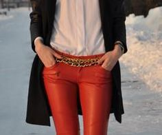 red leather pants. yes.