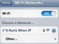 Brilliant wi-fi name