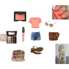 Sunny Summer Day by michaelalove3 on Polyvore featuring polyvore fashion style Topshop Frye Ray-Ban Too Faced Cosmetics NARS Cosmetics Sunday Riley Essie