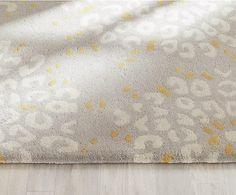 Alfombra de lana artesanal Clark, gris, beige y amarillo - 91x152 cm