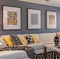 Another DIY fabric and frame idea. Living Room Colors, Living Room Grey, Living Room Modern, Home Living Room, Living Room Designs, Living Room Decor, Home Decor Furniture, Room Inspiration, Interior Design