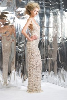 dripping in golden and silver chains the CARINHA dress by REBECCACELLA www.rebeccacella.com