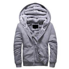 Men's Thick Winter Bomber Fleece Jacket