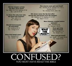 """These are Just a handful of the thousands of contradictions in the Bible. Want to see more? Google """" the skeptic's annototed Bible """" and you'll be shocked ( or maybe not )."""