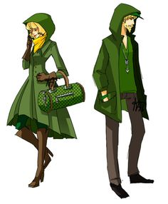 Geeky and stylish! These are outfits designed to emulate comic heros/villians. There are lots of others on Kat's website. This one is Green Arrow.
