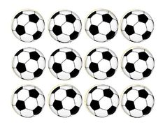 Edible Cake Image  12 cupcakes  Soccer Ball by MamasLilSweetPea, $6.00