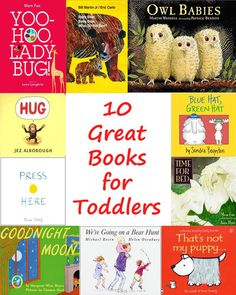 Toddlers loves books, but it can be hard to find books that are fun for parents to read over and over! Here are ten great picture books for toddlers!