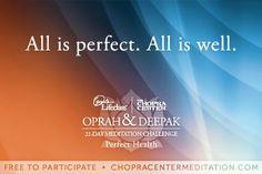 Yes it is... ♥ Inspired-Nourishment.com #healthcoach #deepakchopra #meditate #grateful #abundance #perfecthealth