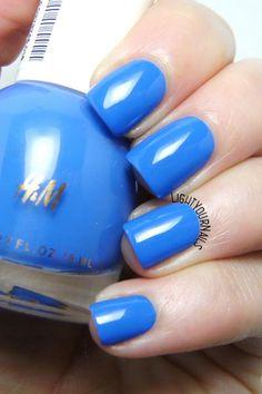 H&M Lapis Lazuli - smalto blu - blue nail polish @hm