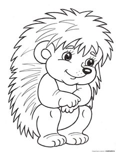 Hedgehog Coloring Page Animal Coloring Pages, Coloring Book Pages, Coloring Sheets, Hedgehog Craft, Digi Stamps, Coloring Pages For Kids, Easy Drawings, Animal Drawings, Applique