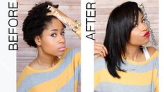 How To: Straightening My Natural Hair; me: she makes me want to try it! lol #2scared4now