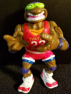 Teenage Mutant Ninja Turtle Donatello Mirage Studios 1991 Playmates Basketball…