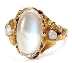 Handmade 20th C. Moonstone Pearl Delight - The Three Graces