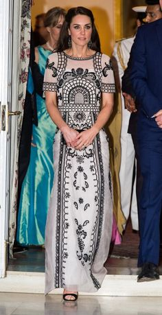 Kate stepped out in black sandals at the Queen's birthday garden party