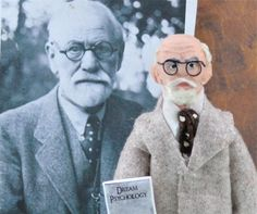 Sigmund Freud Doll Miniature Psychiatrist Art Collectible