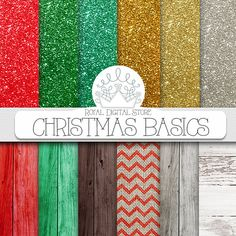 CHRISTMAS DIGITAL PAPER Pack #christmas #scrapbook #paper #xmas #wood #glitter #chevron #red #green #gold #textures #holiday Etsy Christmas, Christmas Wood, Christmas Scrapbook Paper, Paper Clip Art, Christmas Invitations, Etsy Crafts, Digital Scrapbooking, Digital Papers, Printable Paper