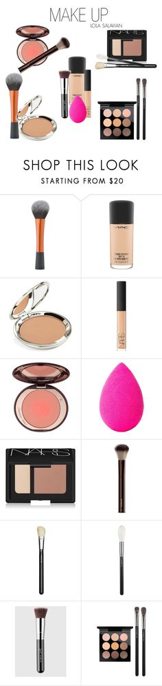 """MAKEUP"" by lorends on Polyvore featuring beleza, MAC Cosmetics, Chantecaille, NARS Cosmetics, beautyblender e Hourglass Cosmetics"