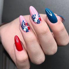 Nail Art Designs Videos, Nail Art Videos, Short Nail Designs, Hot Nails, Pink Nails, Hair And Nails, Pretty Nail Art, Beautiful Nail Art, Marble Acrylic Nails