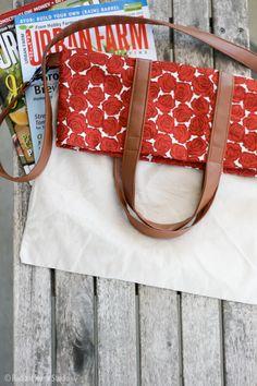 DIY: fold over tote / Faça você mesmo: sacola dobrável