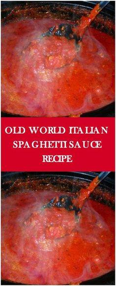 Old World Italian Spaghetti Sauce Recipe #saucerecipe #foodlover #homecooking #cooking #cookingtips
