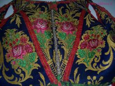 A detail of the female traditional costume  of Meana Sardo.
