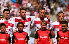 Canberra Raiders Elliott Whitehead of England sings the national anthem during the  2017 Rugby League World Cup Quarter Final match between England and Papua New Guinea Kumuls at AAMI Park on November 19, 2017 in Melbourne, Australia.