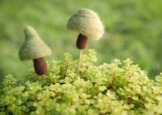 Plant Pals Green Mushrooms Stakes by meghanica on Etsy