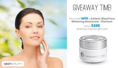 Welcome to the Face Whitening Moisturizer $500 ARV PLUS $200 Amex Gift Card Giveaway !! GIVEAWAY ENDS 9/5 at 11:59 EST Prize$200 American Express Card and a Moisturizer (arv $500.) US & CA – gift code will be emailed to the winner This giveaway is for the US and Canada only. Please visit Fair and …