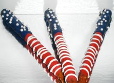 Patriotic pretzels.