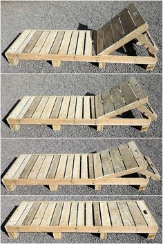 Diese Holzpaletten-Sonnenliege ist ein einfaches aber das attraktivste Holzpalet… This wooden pallet sun lounger is a simple but the most attractive wooden pallet project. You can see this beautiful artwork on the corner d Diy Projects Outdoor Furniture, Outdoor Pallet Projects, Pallet Garden Furniture, Pallets Garden, Furniture Ideas, Wood Projects, Furniture Stores, Pallet Ideas For Home, Palete Furniture