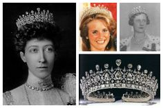 The Fife Tiara | A Tiara a Day-given to Princess Louise, Duchess of Fife, by her parents the Prince and Princess of Wales, later King Edward VII and Queen Alexandra, it was passed along through her husband's family via the Fife dukedom; Photos (clockwise from top left): Princess Louise, Duchess of Fife; Caroline Carnegie, Countess of Southesk; Princess Alexandra, Duchess of Fife; tiara detail