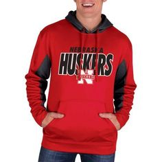 Ncaa Nebraska Cornhuskers Men's Classic-Fit Pullover Impact Hood, Size: 2XL, Red