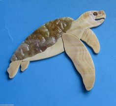 SEATURTLE Precut Stained Glass Kit Mosaic Inlay Sea life Seascape Nautical. Many original designs selling on ebay.