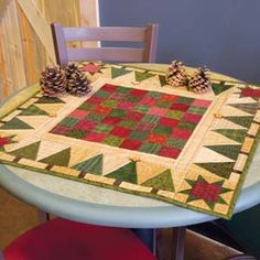 Holiday Games: Table Topper Scrap Quilt Pattern
