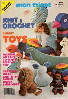 Mon Tricot MD 51 Knit Crochet Patterns Toys Doll Halter Dress Lacy Blouse 1978 #MonTricotKnitCrochet