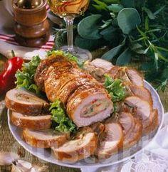 Lajos Mari konyhája - Gombás-sonkás sertésrolád Hungarian Cuisine, Hungarian Recipes, Meat Recipes, Cooking Recipes, Healthy Recipes, Pork Dishes, Diy Food, Meal Planning, Food And Drink