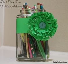 Use duct tape to make ordinary household items look spectacular!