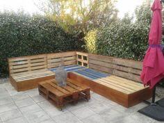Complete Pallet Garden Lounge With Table & Planters Desks & Tables Lounges & Garden Sets Sofas
