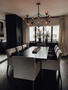 Dream Home Design, Home Interior Design, House Design, Dining Room Table Decor, Dining Room Design, Esstisch Design, Minimalist Dining Room, Luxury Dining Room, Dining Room Inspiration