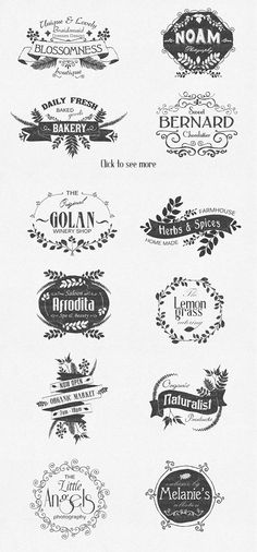 Hand Drawn floral labels and design on Behance