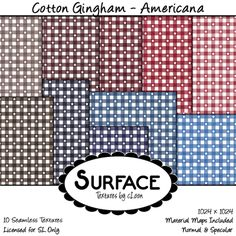 Surface - Cotton Gingham - Americana Contact Ad | Flickr - Photo Sharing!