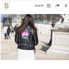 jacket on worn by pict Leather Jackets, Pairs, Instagram Posts, Clothes, Outfits, Clothing, Leather Jacket, Clothing Apparel, Kleding