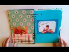 DIY libreta de scrapbooking Patrulla Canina para colorear y puzzles. Tre...