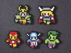 Mini avengers perler beads