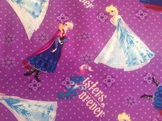 In stock Disney Frozen fabric Sister's by Lilliansquiltshack