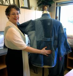 I recently completed a garment for Canada College's upcycled denim contest. I started with a thrifted foundation garment of a cotton wa...