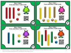 FREE Place Value QR Codes 1st Grade Worksheets Task Cards Printable Games -- Here are 6 printable task cards to help your 1st grade students practice tens and ones place value. Students will love the immediate feedback with the QR code on each place value task card! There is a student response form and answer key as well.