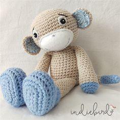 Crochet Toys For Boys Personalised Amigurumi - Crochet Boy Monkey - Crochet Monkey, Cute Crochet, Crochet Dolls, Kids Crochet, Easy Crochet Projects, Crochet Ideas, Crochet With Cotton Yarn, Bear Doll, Homemade Crafts