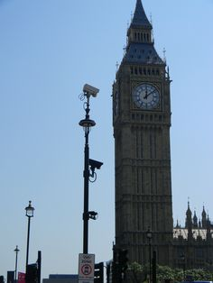 Big Ben looms just after noon July 26 on another sunny day in London.