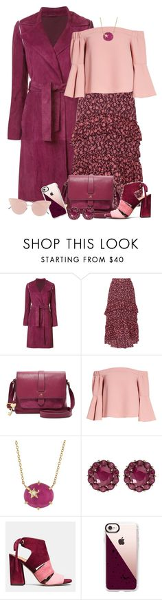 """""""Untitled #2173"""" by ebramos ❤ liked on Polyvore featuring ZAC Zac Posen, Ulla Johnson, FOSSIL, Topshop, Andrea Fohrman, Color My Life, Coach, Casetify and So.Ya"""